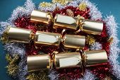 Christmas Crackers - Red, Gold, Silver And Green