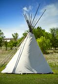 stock photo of wigwams  - South Dakota Lakota Tribe Wigwam - JPG