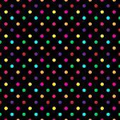 Colorful Polka Dot Pattern Vector