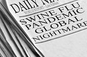 stock photo of world health organization  - Newspaper headlines that read  - JPG