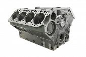 picture of cylinder  - The image of cylinder block of truck engine - JPG