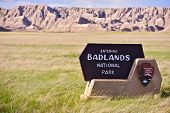 Badlands Entrance Sign