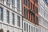 picture of neo-classic  - Historic facades in Nyhavn in Copenhagen Denmark - JPG