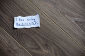 stock photo of sarcastic  - I like being sarcastic messagewritten on piece of paper on a wood background - JPG