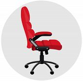 Flat office chair
