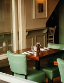 Old Fashioned Cafe Restaurant Interior