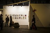 MADRID,SPAIN - 19 FEBRUARY 2014.Pictures.Begins 2014 ARCO, the International Contemporary Art Fair in Madrid, Spain