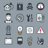 Electricity icons / colors