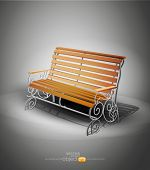 vector wooden bench