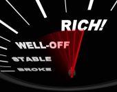 Speedometer With Neelde On Rich