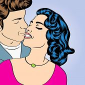 Pop Art Kissing Couple