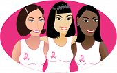 Pink Cancer Ribbon Women 2 poster