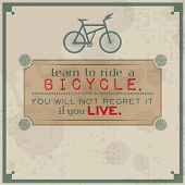 Learn To Ride A Bicycle