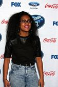 LOS ANGELES - FEB 20:  Malaya Watson at the American Idol 13 Finalists Party at Fig & Olive on Febru