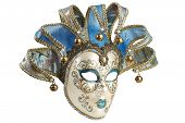 Isolated Blue Venetian Mask