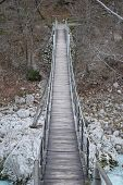Suspension Bridge Over Soca River