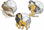 Cancer,leo,virgo And The Zodiac Sign.horoscope.stars