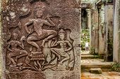 Bas-relief in Angkor Wat temple