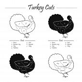 TURKEY MASCULINE CUTS SCHEME - b&w