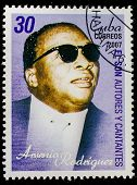 CUBA - CIRCA 2007: A stamp printed in cuba dedicated to authors and singers of Cuban son, shows Arse