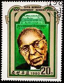 NORTH KOREA - CIRCA 1980: A stamp printed in DPR Korea shows Robert Stolz (1880-1975), Composer, Birth Centenary, circa 1980