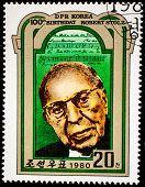 NORTH KOREA - CIRCA 1980: A stamp printed in DPR Korea shows Robert Stolz (1880-1975), Composer, Birth Centenary, circa 1980