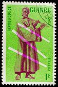 GUINEA CIRCA 1962: stamp printed by Guinea, shows Musical Instrument, flute, circa 1962