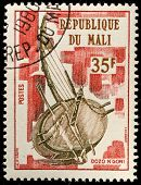 MALI - CIRCA 1973: A stamp printed by Mali, shows  Djembe, circa 1973