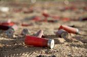 Wasted shot gun shell