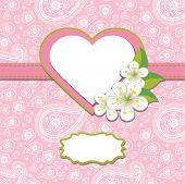 Pink Paisley Design Template Or Artwork.spring Background