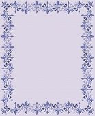 foto of scrollwork  - Lavender and purple repeating floral scrollwork border for a birth announcement or Easter frame - JPG