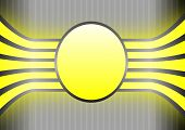 Yellow Banner On Grey Striped Background