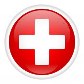 White_cross_on_button