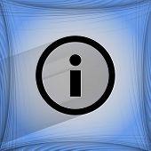 info. Flat modern web design on a flat geometric abstract background