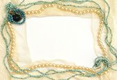 Frame Of Lace And Jewelry: Turquoise, Pearls, Coral