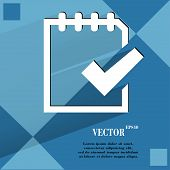 Notepad paper Documents. Flat modern web design on a flat geometric abstract background