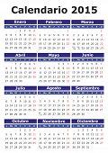 Spanish Calendar 2015