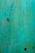 Green Rusty Metal Surface Texture