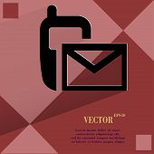 Sms. Flat modern web design on a flat geometric abstract background