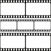 Film strips seamless pattern