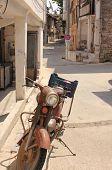 An old retro classic motorbike