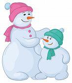 Snowmens mother and son
