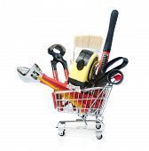 Hand Tools in Shopping Cart