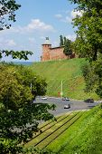 Russia, Nizhny Novgorod: Ancient Tower On The Green Hills