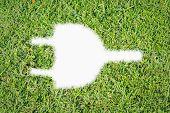 Green Turf Logo Power Plug