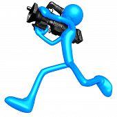 Cameraman Running