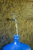 Water Tap Filling A Big 20L Bottle