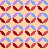 Circle pattern colored background