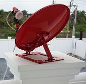 Red Satellite Dish