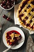 pic of cherry pie  - Delicious Homemade Cherry Pie with a Flaky Crust - JPG